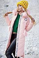 Пальто зимнее женское с мехом канадской лисы 42-48