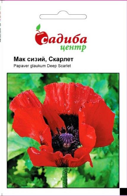 Семена Мак Скарлет, красный, сизый 0,1 г СЦ