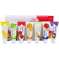 Дитяча зубна паста з ксилітом 7 фруктів Edel+White (7х9,4г) від 0-6 років