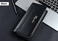 Стильный мужской кошелек, портмоне, бумажник на две молнии. Мужская барсетка. ЕК95-1