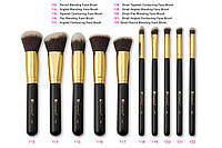 Набор кистей для макияжа Sculpt and Blend - 10 Piece Brush Set BH Cosmetics Оригинал