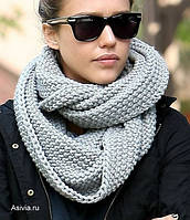 Как носить шарф-снуд или хомут