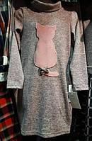 Детское трикотажное платье Кошечка