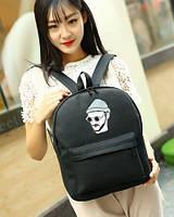 Стильный оригинальный городской рюкзак, унисекс,  черный