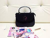 Маленькая сумка-клатч из натуральной замши