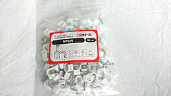 Скобы (клипсы) для крепления кабеля (диаметр 6мм) (упаковка 100шт)