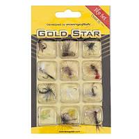 Набор мушек Gold Star Fly Set 12 шт. Trout II