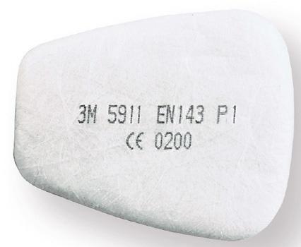 Фильтр к респираторам 3м противопылевой фильтр 5911 1шт. 3М