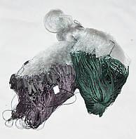 Сеть рыболовная одностенная высота 1.8м. длинна 100м, ВШИТЫЙ ГРУЗ  ячейка 14 цвет Белый