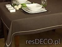 Стильная скатерть цвета шоколад 150-220 см