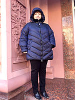 Пуховик ComStil РАЗМЕР+ куртка с капюшоном.