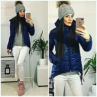 Куртка-парка женская, модель  210, синий