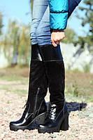 Сапоги женские комбинированные / Women's high boots combined