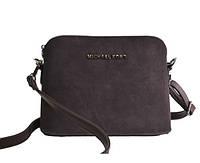 Брендовая сумка   коричневый замш маленького размера