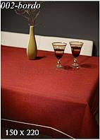 Однотонная скатерть цвета Марсала  на кухонный столик 110-160 см.