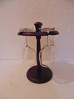 Мини бар деревянный на 5 бокалов размер 25*16, фото 1