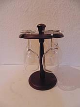 Мини бар деревянный на 5 бокалов размер 25*16