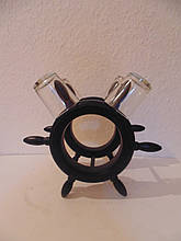 Мінібар дерев'яний під пляшку з 4 чарками розмір 20*13