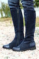 Сапоги женские замшевые / Women's high boots chamois