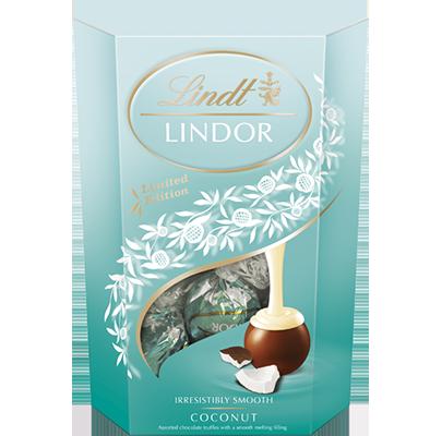 Шоколадные конфеты Lindt Lindor Cornet Coconut с кокосом, 200 гр., фото 1