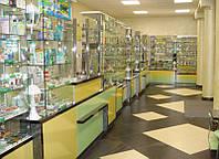 Торговое оборудование для аптек Витрины торговые