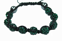 Браслеты Шамбала (кружки) Темно-Зеленый