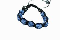 Браслеты Шамбала (кружки) Холодно-Голубой