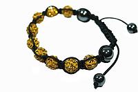 Браслеты Шамбала (кружки) Желтый