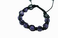 Браслеты Шамбала (кружки) Фиолетовый