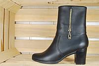 Ботинки женские кожаные / Women's boots leather, фото 1