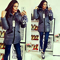 Куртка-парка зимняя, модель  204, серая