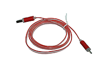Кабель USB to micro USB (с подсветкой, 1 м) №2 Красный