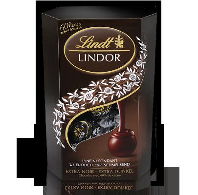 Шоколадные конфеты Lindt Lindor Cornet Extra Dark 60% какао, 200 гр.