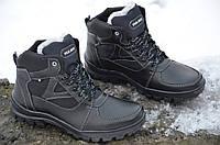 Ботинки кроссовки зимние мужские мех полушерсть популярные Львов черные прошиты 2016