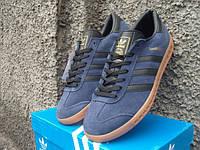 Кроссовки Adidas Hamburg сине-черные (размеры 41-45)