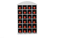 Сережки (Шамбала, гвоздики) Красный