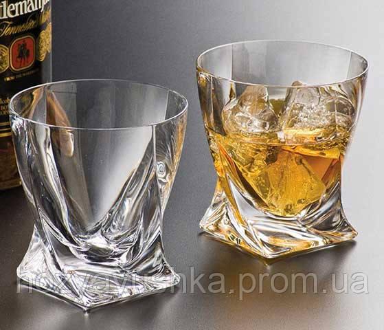 Стаканы для виски Bohemia Quadro 340мл 6шт