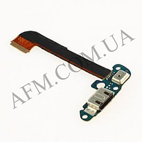 Шлейф (Flat cable) HTC 801e Desire One M7 с разъемом зарядки,   микрофоном