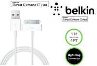 USB кабель Belkin для зарядки iPhone 3 3GS / 4 4S / iPad 2 / 3