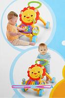 Каталка-ходунки детские 2 в 1 музыкальные LION