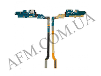 Шлейф (Flat cable) Samsung i9500 Galaxy S4 с разъемом зарядки,   микрофоном,   компонентами