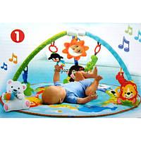 Детский музыкальный развивающий коврик Умный малыш 7182 с дугами, фото 1