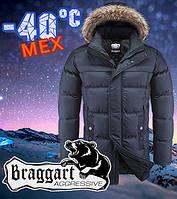 Классическая мужская куртка Braggart 3184 темно синяя, фото 1