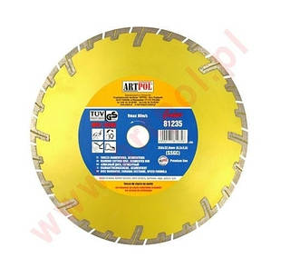 Алмазный диск 230 x 22,2 мм сегментный быстрый и глубокий разрез /ар