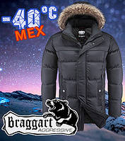 Классическая мужская зимняя куртка с мехом Braggart 3184, фото 1
