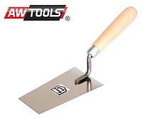 Шпатель трапециевидный AWTOOLS 160мм деревянная ручка
