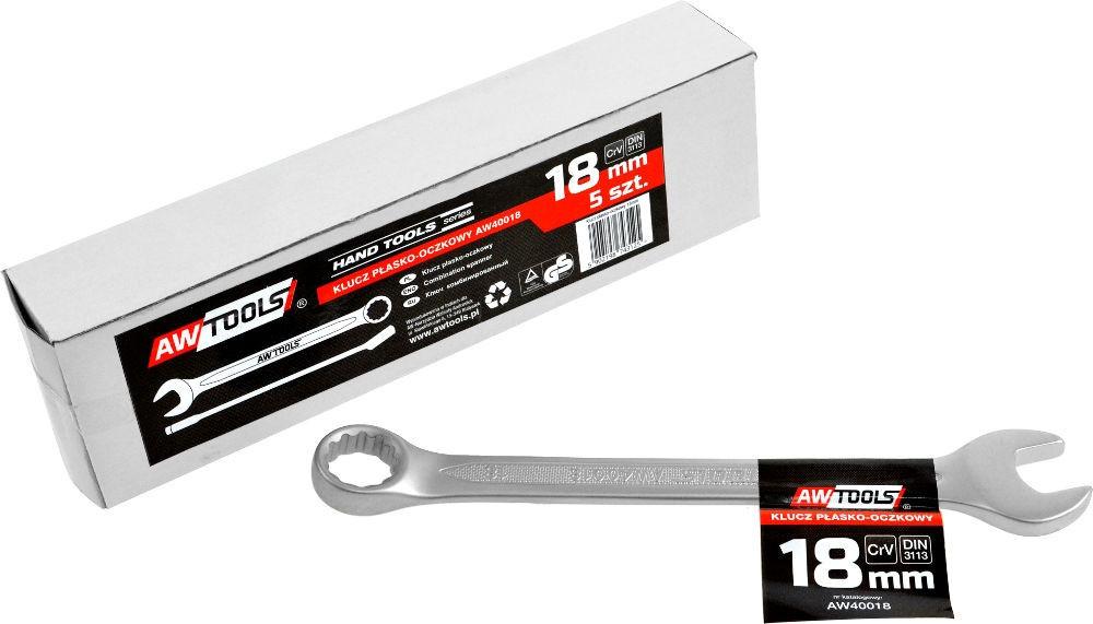 Ключ комбинированный AWTOOLS crv din3113, размер: 18 (мм)