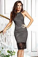 Эксклюзивное платье органза. Цвет черно-бежевый.