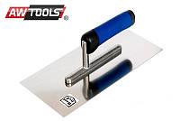 Терка металлическая AWTOOLS  270мм ручка резиновая