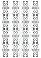 ФВМ-16. Схема на водорозчинному флізеліні